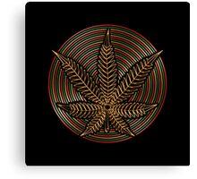 Cannabis Gold Canvas Print