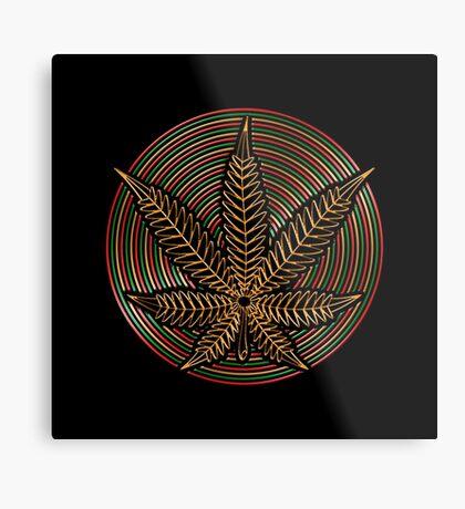 Cannabis Gold Metal Print