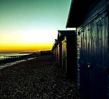 st leonards on sea beach huts  by woodenfoot79