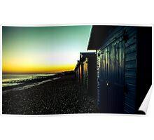 st leonards on sea beach huts  Poster