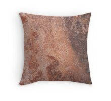 Cognac and Wild Rabbit Abstract Throw Pillow