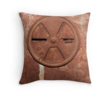 Steel Head Abstract Throw Pillow