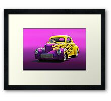 1941 Willys Coupe 'Purple Studio' Framed Print