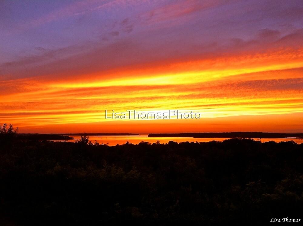 fiery glow burning sunset - photo #1