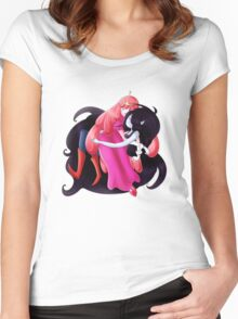 PB and Marceline Women's Fitted Scoop T-Shirt