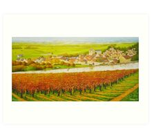 Epernay in the Champagne region of France Art Print
