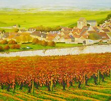 Epernay in the Champagne region of France by Dai Wynn