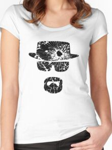 Heisenberg (Gunshot - Black) Women's Fitted Scoop T-Shirt