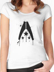 Alliance Splatter Women's Fitted Scoop T-Shirt