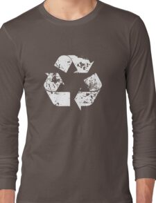 Recycle (Distressed - White) Long Sleeve T-Shirt