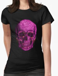 purple skull Womens Fitted T-Shirt