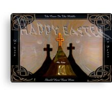 Happy Easter   card Canvas Print