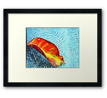 ©NS Leaf In Frozen Dreams IIA Framed Print