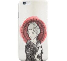 Japanese flag and Geisha iPhone Case/Skin