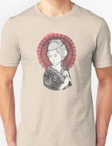 Japanese flag and Geisha Unisex T-Shirt