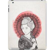 Japanese flag and Geisha iPad Case/Skin
