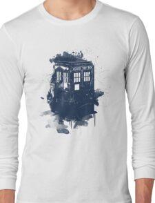 splatter tardis Long Sleeve T-Shirt