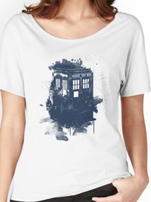 splatter tardis Women's Relaxed Fit T-Shirt