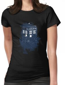 splatter tardis Womens Fitted T-Shirt