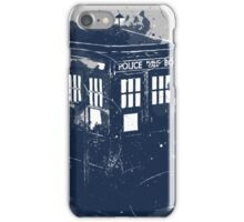 splatter tardis iPhone Case/Skin