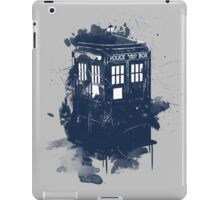 splatter tardis iPad Case/Skin