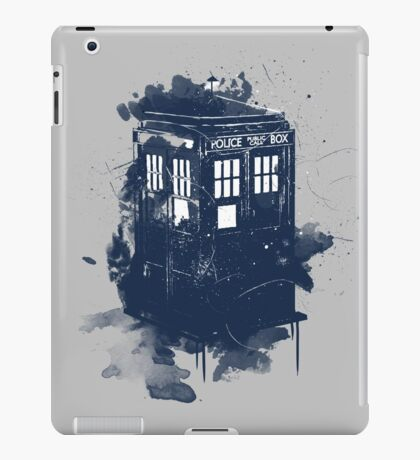 splatter tardis iPad Case/Skin