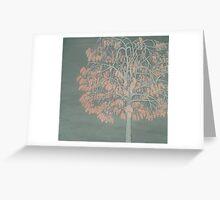 Cherry Chain Tree Greeting Card