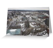 Rensselaer Polytechnic Institute Aerial Photography Greeting Card