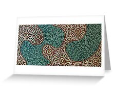 Flow and Pop Pattern Greeting Card