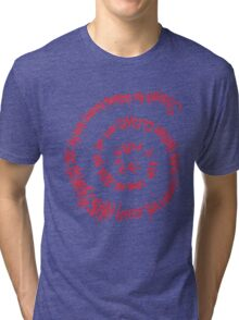 Shadow of Death (Spiral of the Grim Reaper) Tri-blend T-Shirt