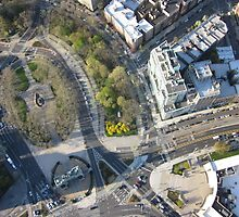 Grand Army Plaza Aerial Photography by philipsweeting