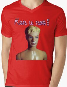 Ken u not? Mens V-Neck T-Shirt