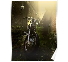 Cafe Racer in the Alley Poster