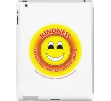 Kindness Makes The World a Better Place - Yellow T-shirt iPad Case/Skin