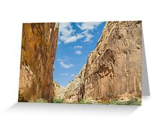 Capitol Gorge in Capitol Reef NP Greeting Card
