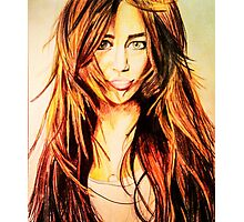 The old Miley Cyrus Photographic Print