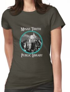 MINAS TIRITH PUBLIC LIBRARY Womens Fitted T-Shirt