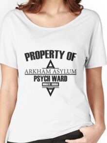 Arkham Asylum // Psych Ward Inmate Design Women's Relaxed Fit T-Shirt