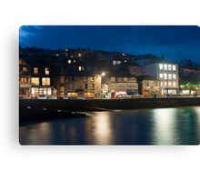 St Ives harbour at night Canvas Print
