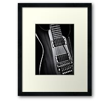 Electric guitar artistic black and white art photo print Framed Print