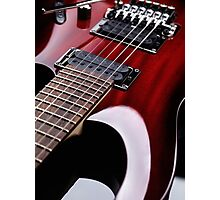 Red electric guitar close up art photo print Photographic Print