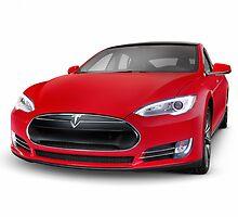 Tesla Model S luxury electric car art photo print by ArtNudePhotos