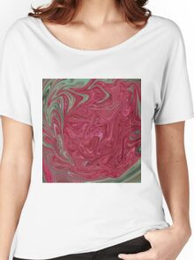 Red Seedhead Abstract Women's Relaxed Fit T-Shirt