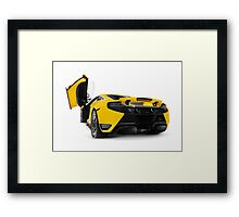 McLaren 12C supercar rear open butterfly door art photo print Framed Print