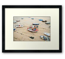 Boats at St Ives Cornwall Framed Print