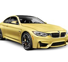 2015 BMW M4 Coupe performance car art photo print by ArtNudePhotos