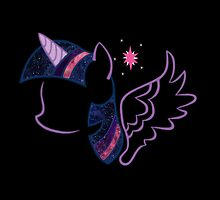Galactic Twilight Sparkle by dextersboutique