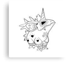 Nidorino de los Muertos   Pokemon & Day of The Dead Mashup Canvas Print