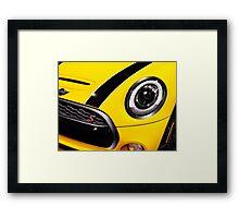 Mini Cooper S car detail closeup art photo print Framed Print