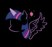 Twilight Sparkle Silhouette by dextersboutique
